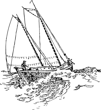 a man navigating a sailboat on the water
